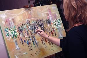 Wedding painter live event Erin Crowley