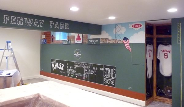 Boston Sports Murals Fenway Park Mural Green Monster