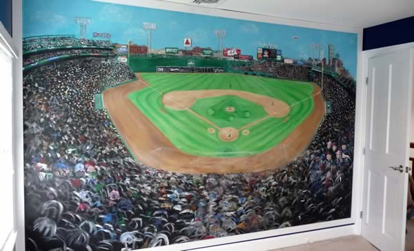 Boston Sports Murals Fenway Park Mural Green Monster