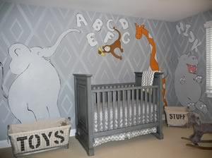 See More On Kids, Nusery Mural Page